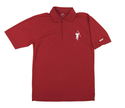 Red with White Logo Performance Polo