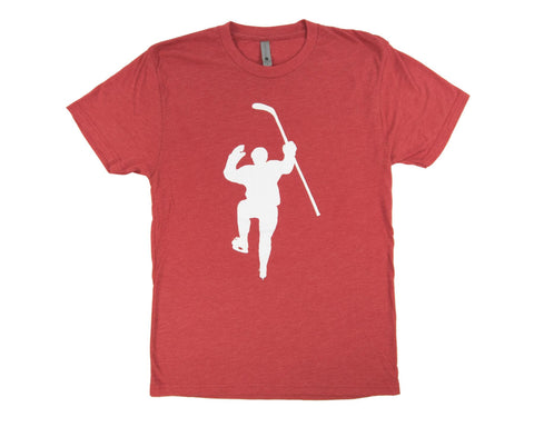 Red with White Logo Tri-Blend Tee Shirt