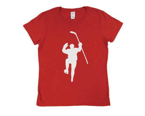 Red with White Logo Tee Shirt (Women)