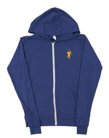 Navy Tri Blend Lightweight Full Zip Hoodie
