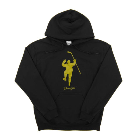 The Jack Eichel Collection: Shine Gold Black with Gold Logo Dual Blend (Women) Hoodie