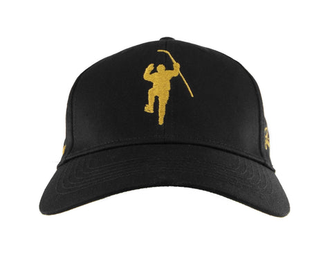 Shine Gold Black With Gold Logo Adjustable Hat (Youth)