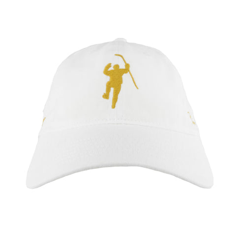 Shine Gold White With Gold Logo Adjustable Hat (Youth)
