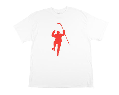 White with Red Logo Tee Shirt
