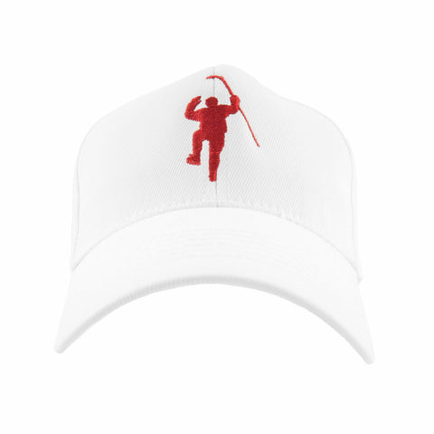 White with Red Logo Flex Fit Hat