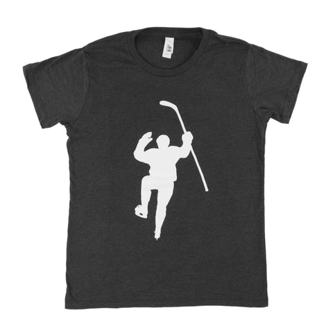 Black with White Logo Tri-Blend (Women)s Tee Shirt