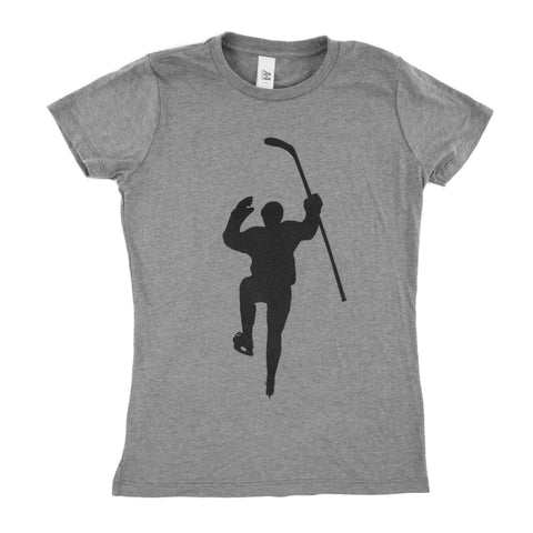 Gray with Black Logo Tri-Blend (Women)s Tee Shirt