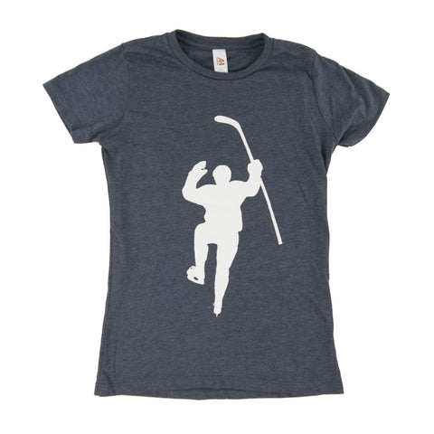 Navy with White Logo Tri-Blend (Women)s Tee Shirt