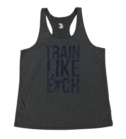 Gray Racer Train Like Eich Performance Tank (Women)