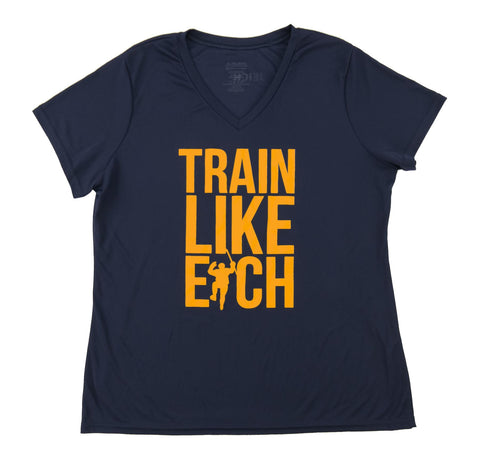 Navy Train Like Eich Performance Tee Shirt (Women)