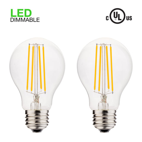 Revel LED 6W Dimmable Light Bulb (60W replacement), Warm White 2700K 806LM, 2-Pack