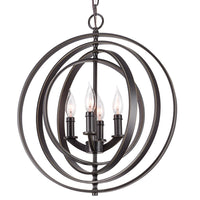 "Revel / Kira Home Orbits 18"" 4-Light Modern Sphere/Orb Chandelier, Bronze Finish"