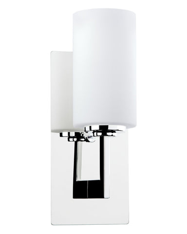 "Kira Home Celene 13"" 1-Light Wall Sconce/Wall Light + Frosted Glass Shade, Chrome Finish"