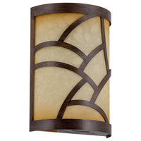 "Kira Home Cromwell 9.5"" Traditional Wood Style Metal Chime Cover + Tea-Stained Glass (Chime Not Included), Walnut Style Finish"