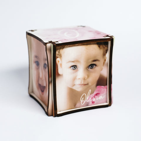 Watercolor Photo Cube