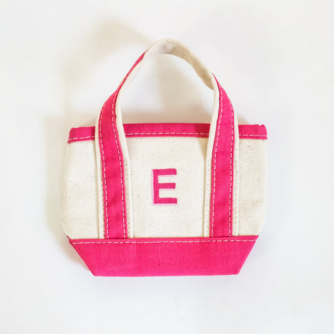 Mini Canvas Boat Tote