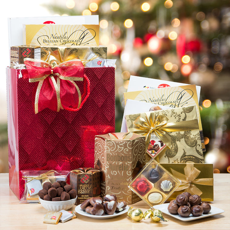 Holiday Chocolate Shopping Spree Gift Bag