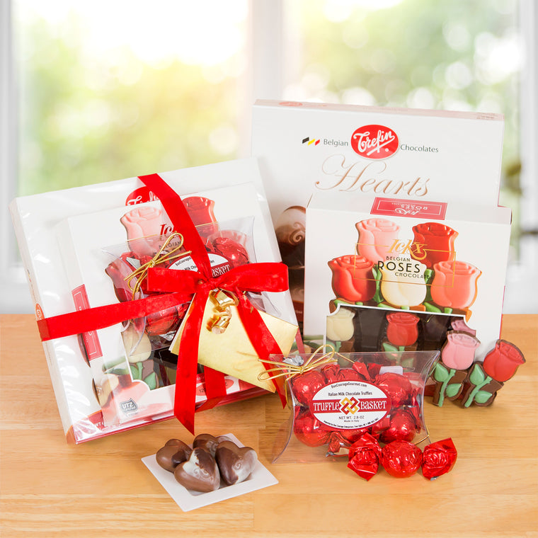 Chocolate & Roses Gift Tower