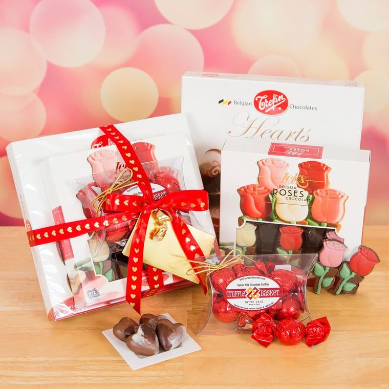 Chocolate & Roses Valentine Gift Tower