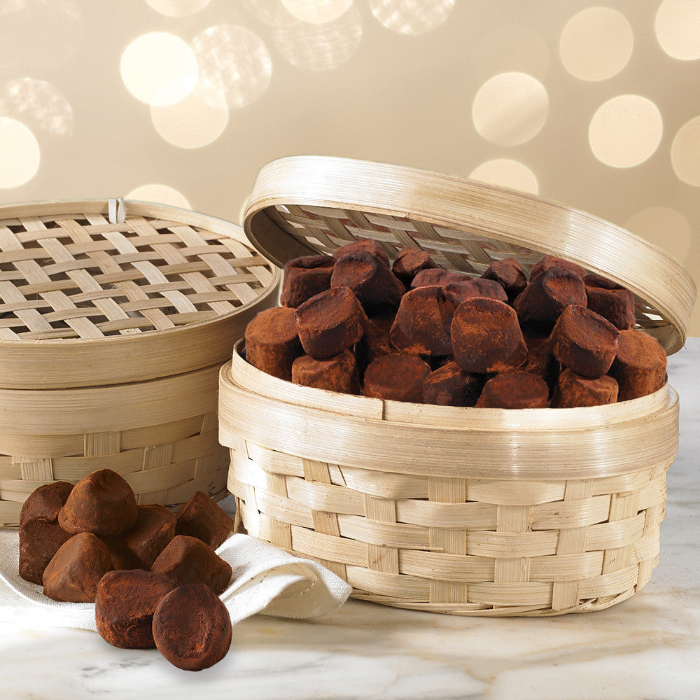 Truffle Basket French Chocolate Truffles - Express Shipping