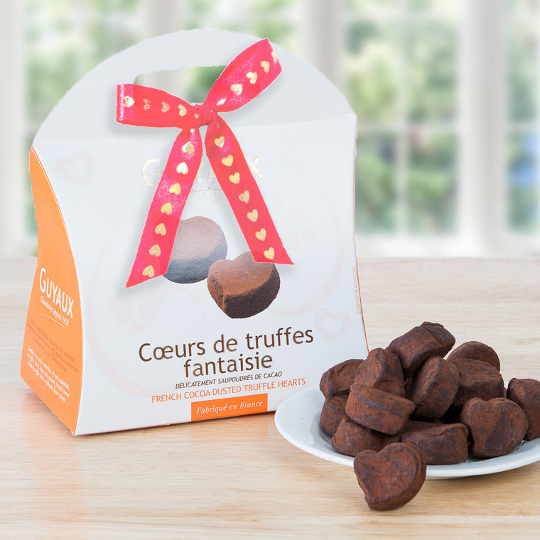 Valentine's Heart-Shaped French Truffles