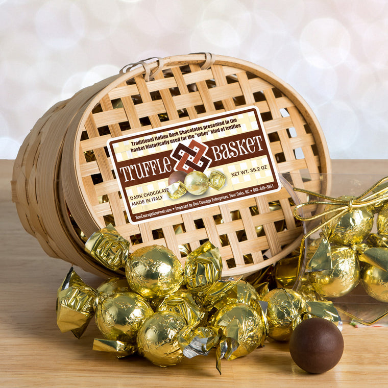Truffle Basket Italian Dark Chocolate Truffles