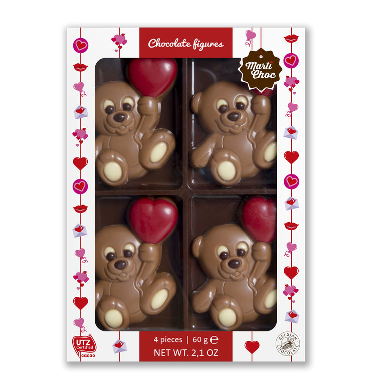 Belgian Chocolate Valentine Bears