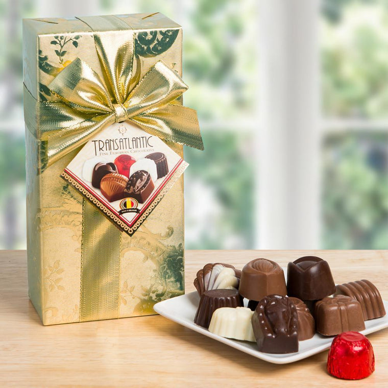 Gift-Wrapped Belgian Chocolate Assortment