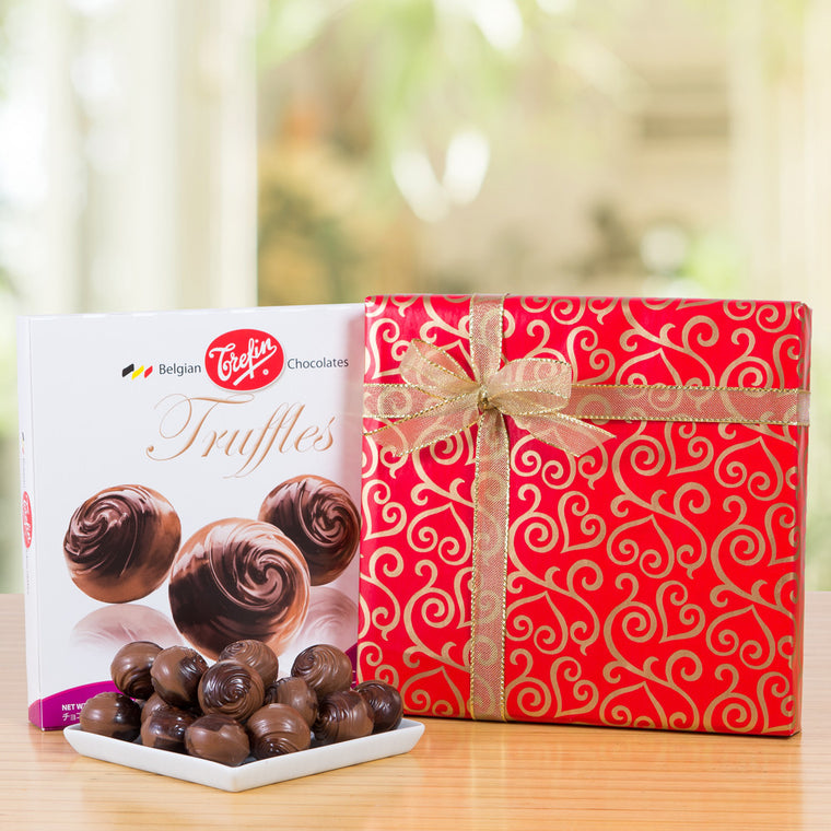 Gift-Wrapped Belgian Chocolate Truffles