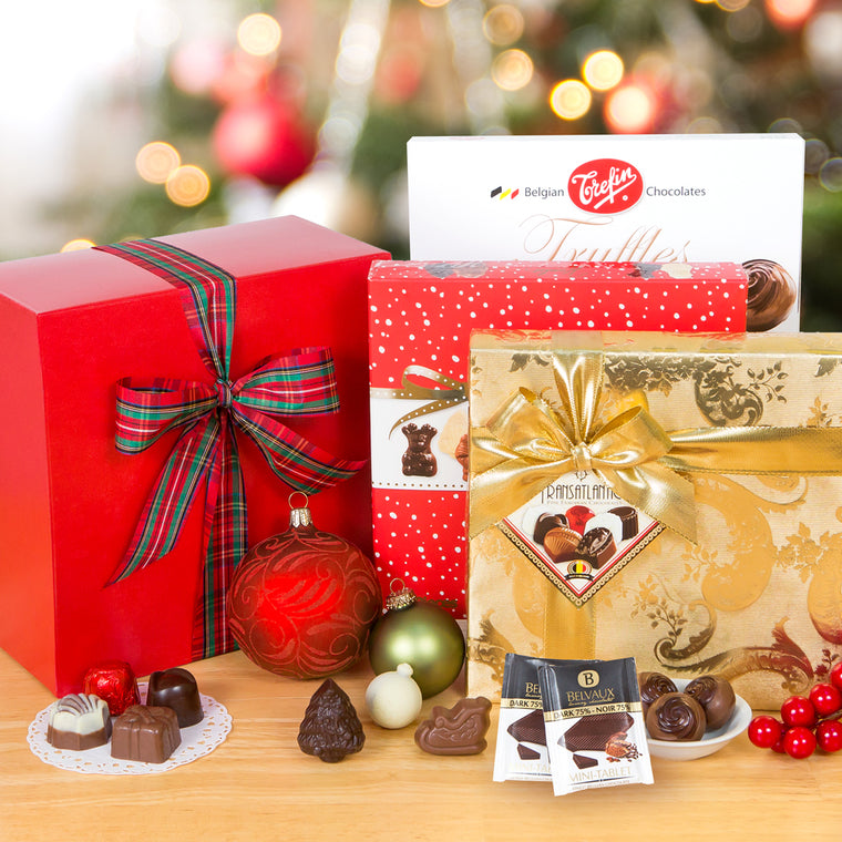 Santa's Best Belgian Chocolate Gift Sampler