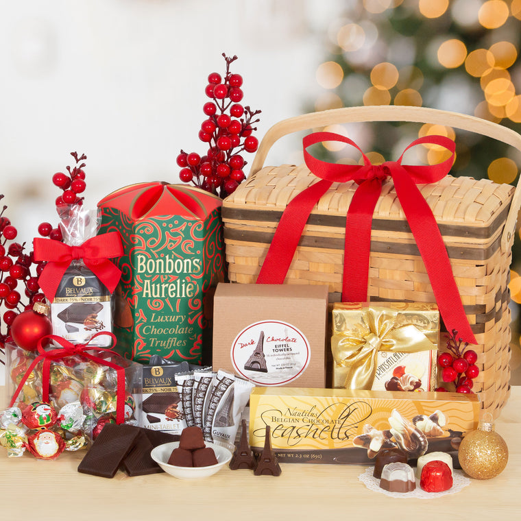 Holiday Hamper of Fancy European Chocolates