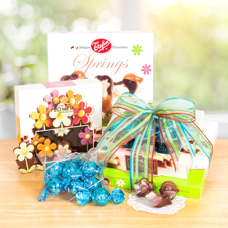 Springtime Chocolate Gift Tower