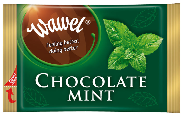 Individually-wrapped Wawel Dark Chocolate Mints 90-pc Bulk