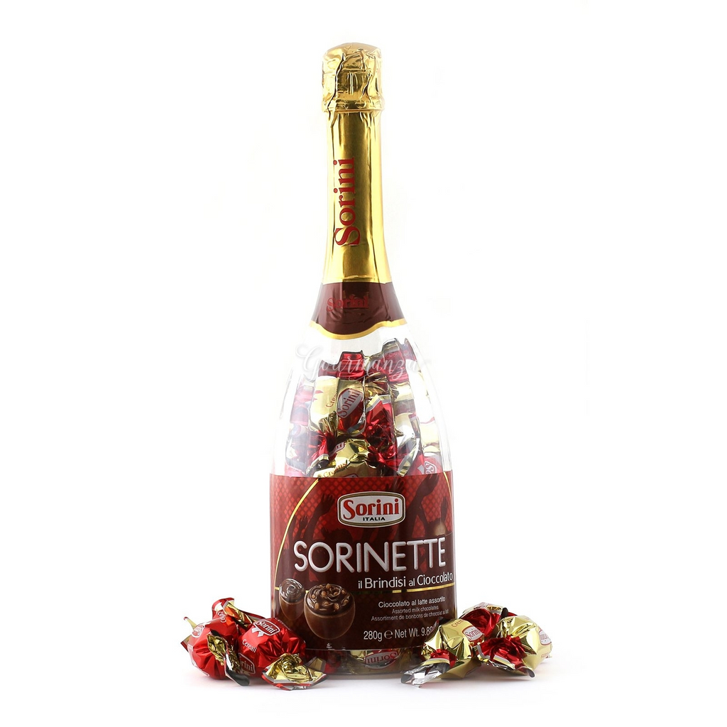 Champagne Bottle of Chocolate Truffles