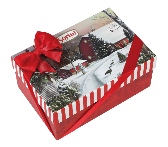 Nostalgic Winter Scene Gift Box of Italian Chocolate Truffles - 50% off