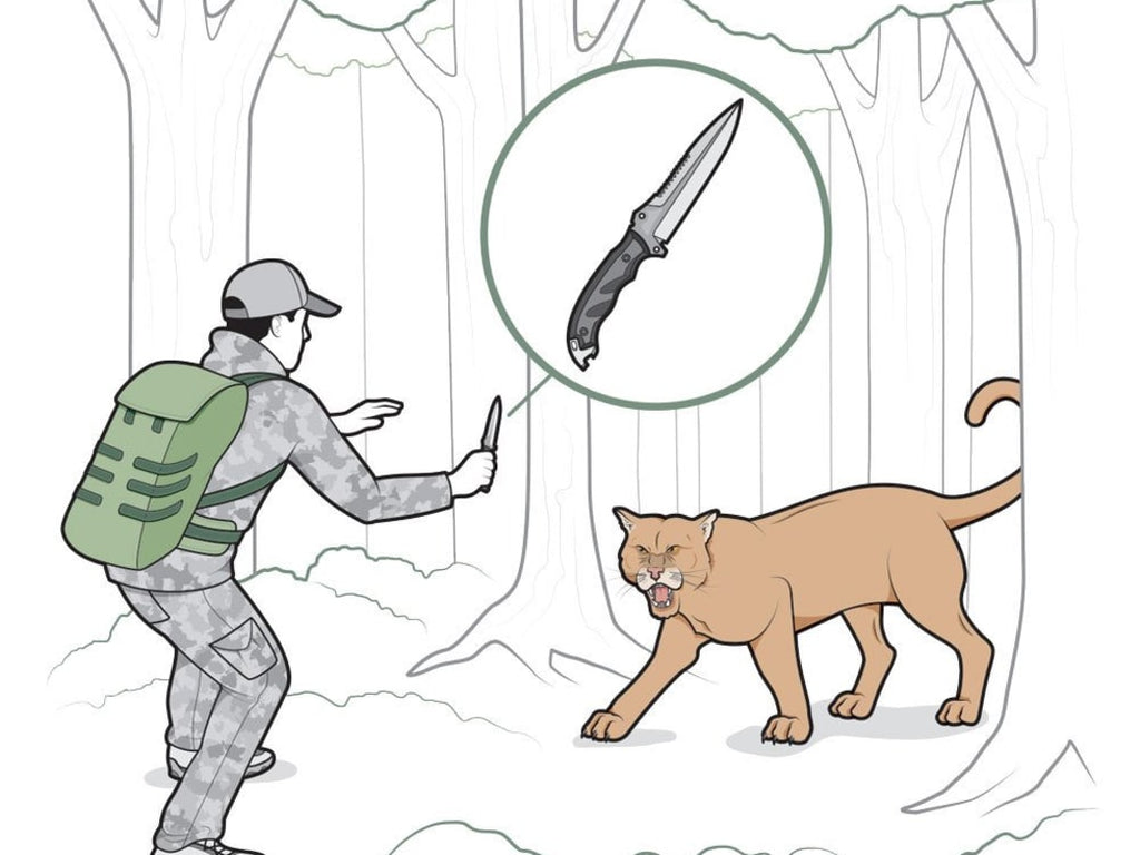 How to Fight off a Bear, Lion, and Wolfpack with a Knife