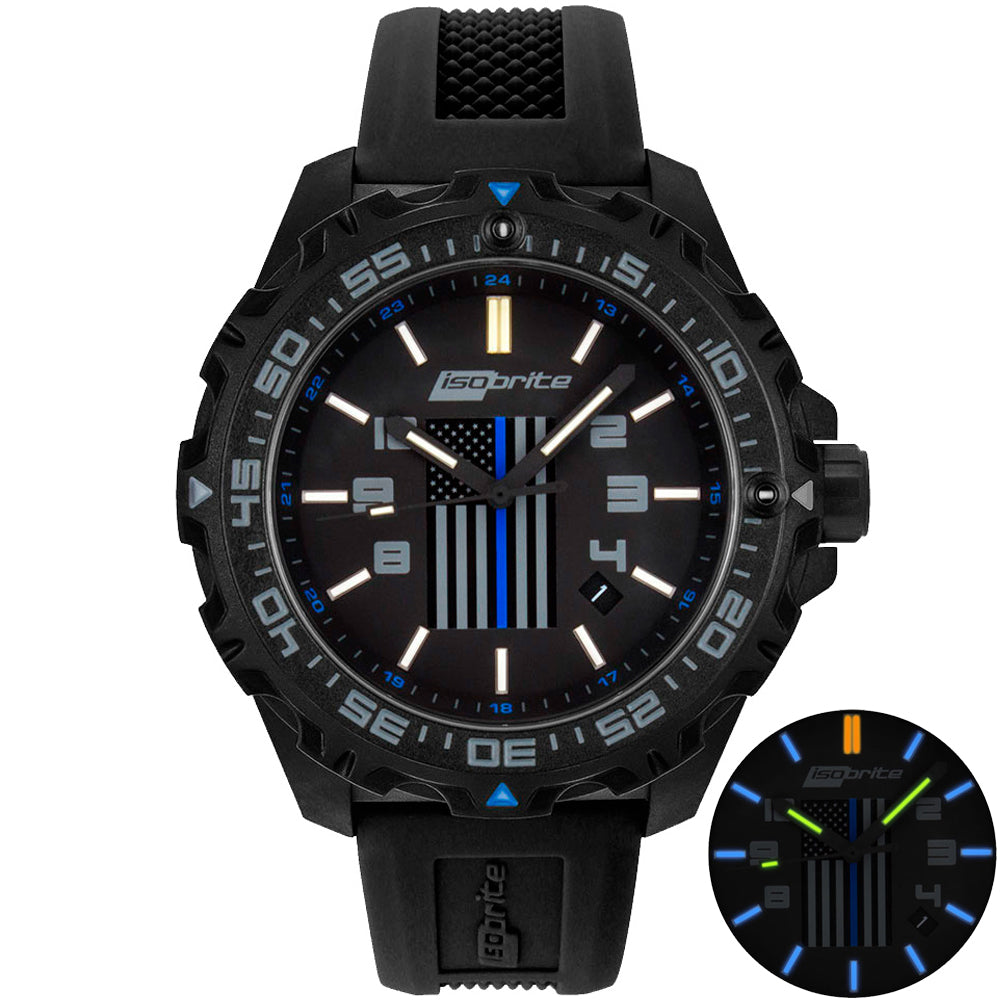 ISOBRITE THIN BLUE LINE LIMITED EDITION WATCH ISO3005
