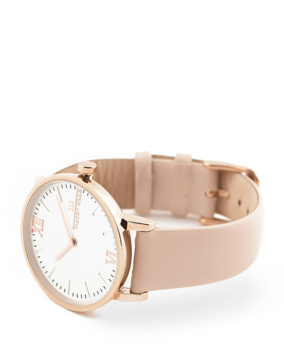 Seven50 Rose Gold and White McCoy Road Women's Watch With Nude Band 3/4