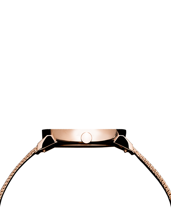 Seven50 Rose gold and Black McCoy Road Women's Watch With Rose gold Milanese Mesh Strap side