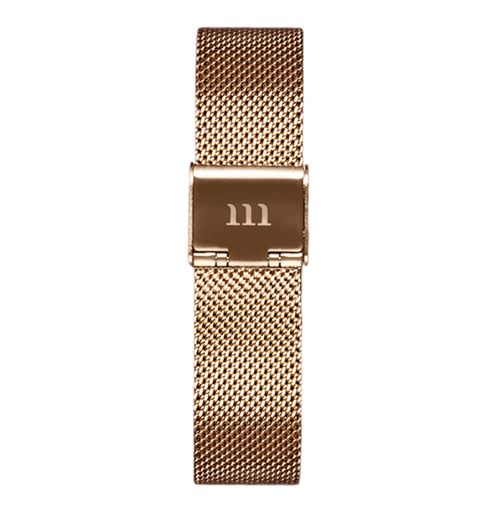 McCoy Road Women's Seven50 Rose Gold Mesh Watch Strap