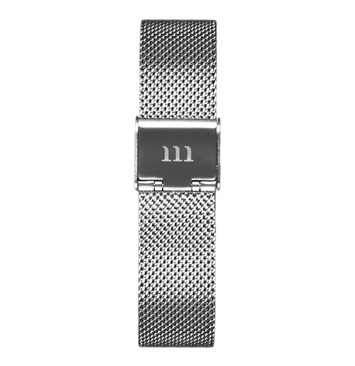 McCoy Road Women's Seven50 Silver Mesh Watch Strap