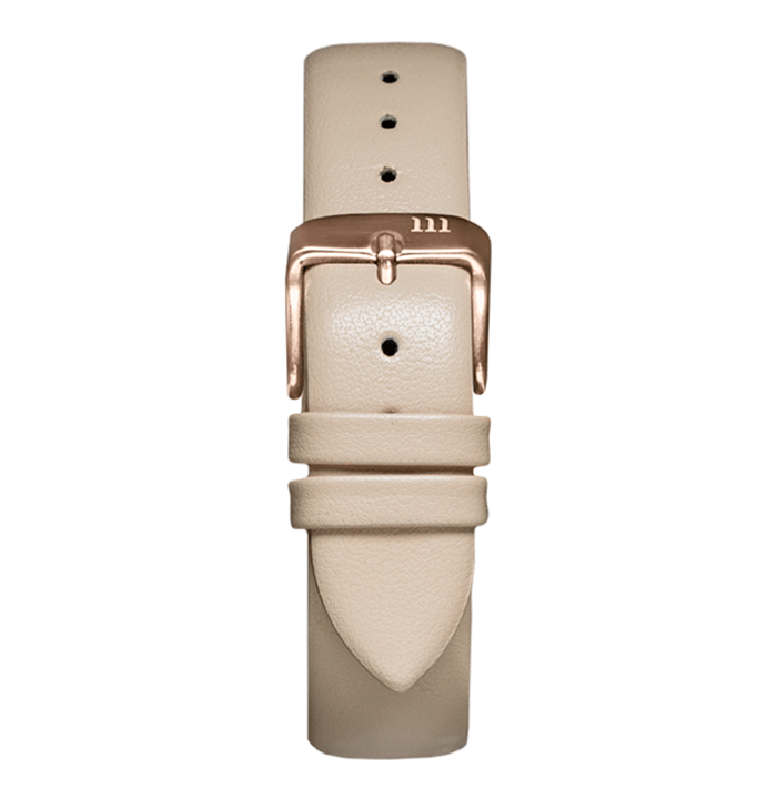 McCoy Road Women's Seven50 Nude Leather Watch Band With Rose Gold Clasp