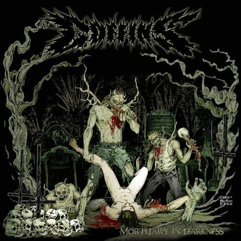 Coffins - Mortuary in Darkness