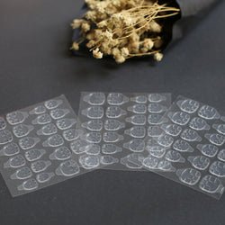 3-Pack Transparent Double Sided Nail Sticker