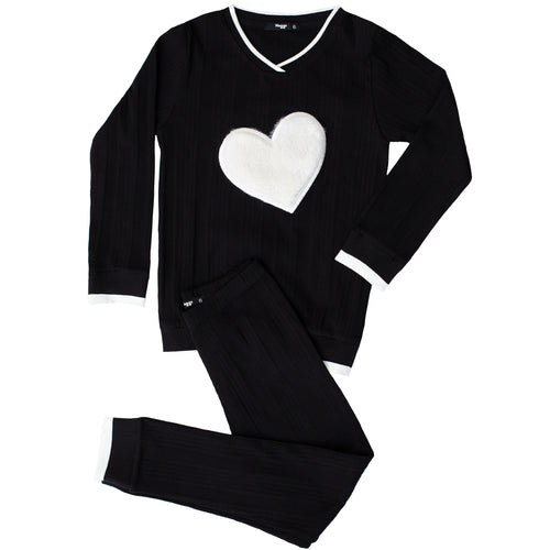 Vee Puffy Heart Loungewear Set Girls