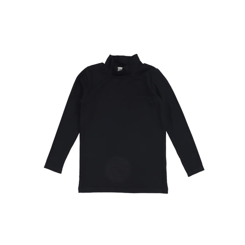 Lil Legs Black Ribbed Turtleneck