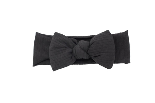 Black Puffer Bow Baby Band