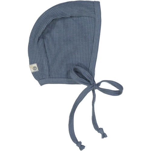 Dusty Blue Waffle Bonnet By Analogie