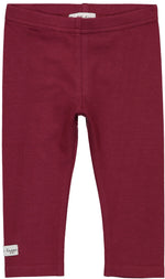 Lil Legs Burgundy Leggings