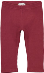 Lil Legs Burgundy Ribbed Leggings